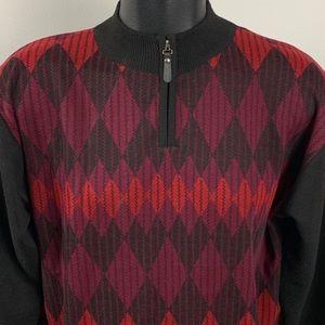 BRAND NEW Cardinali 1/4 Zip Argyle Sweater